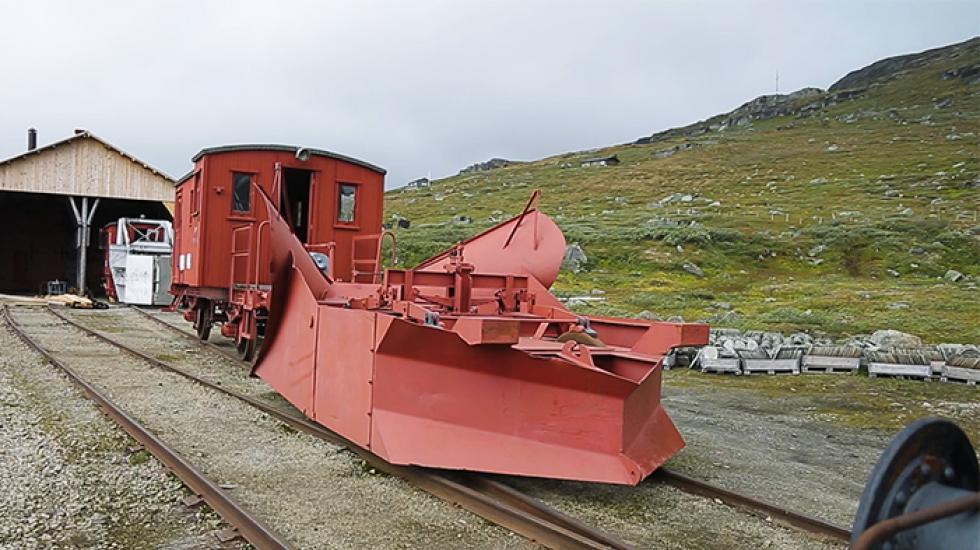 Ploglok på Rallarmuseet i norska Finse