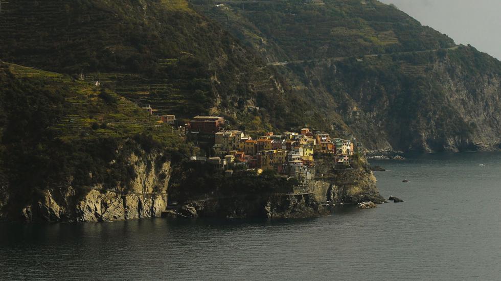 Vy över Cinque Terre