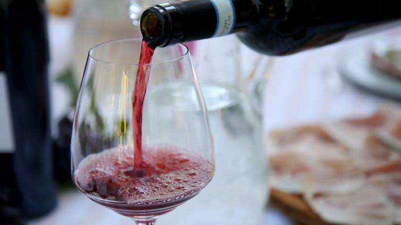 Amarone glass of wine in Valpocella