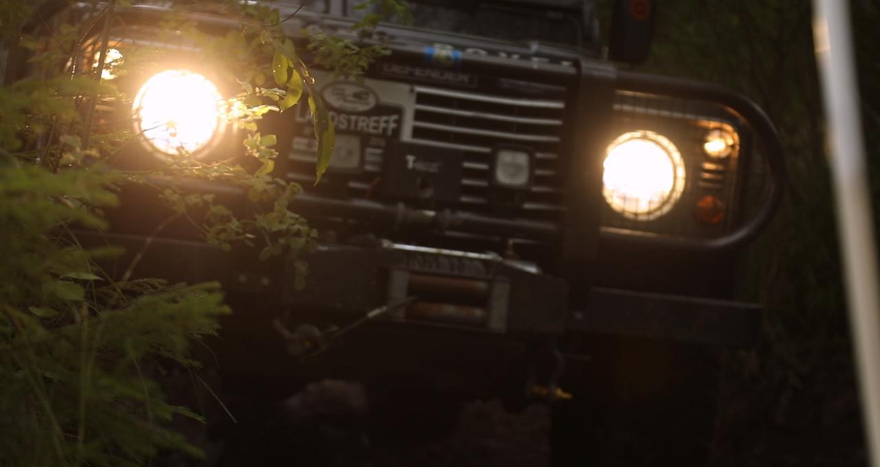 Terrängkörning med Land Rover i Sörmland