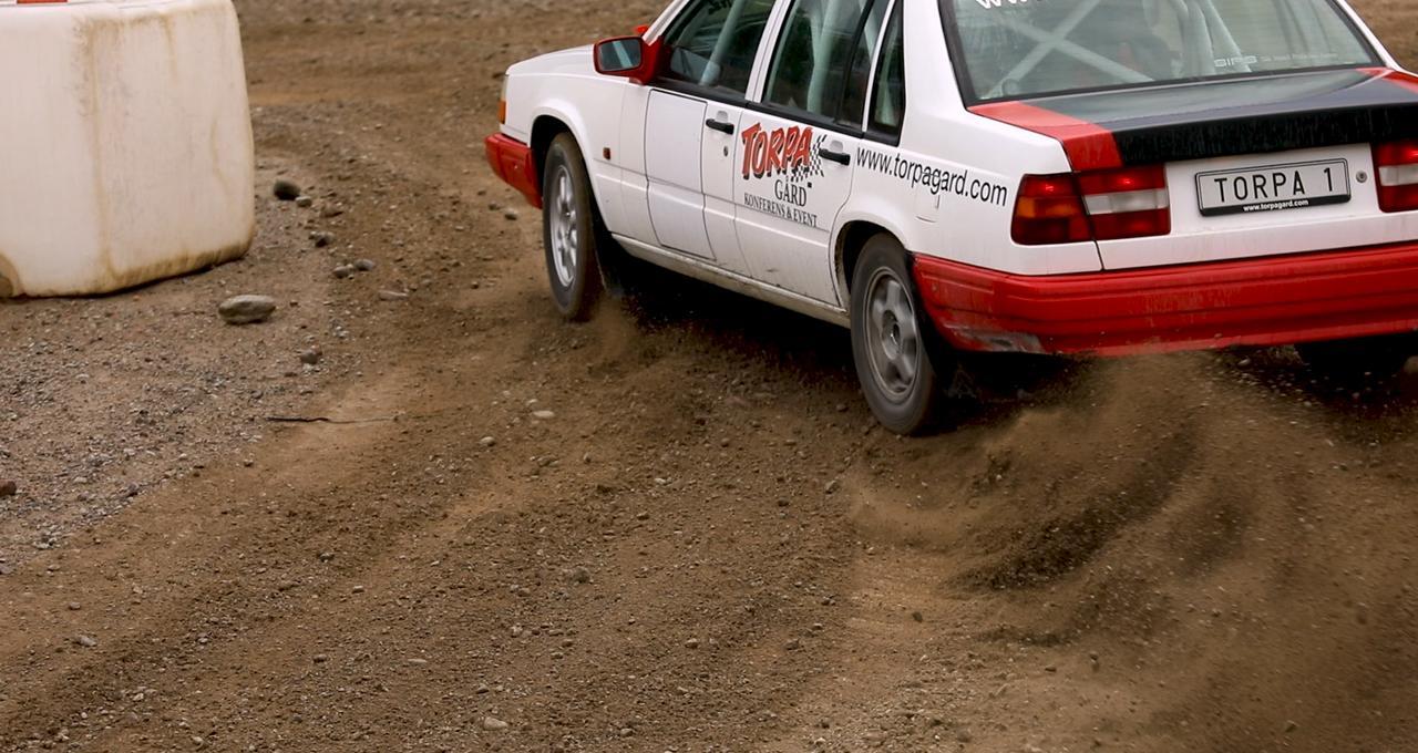 Ratta rallybil på Torpa Gård i Borensberg utanför Motala