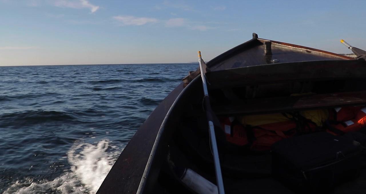 Nätfiske vid Själö Hamn