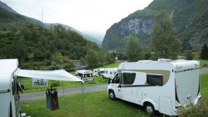 Utsikt över Flåm Camping